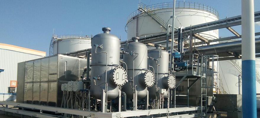 甲醇储罐区油气冷凝回收解决系统